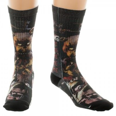 BioWorld- Five Nights At Freddy's Horror Characters Men's Crew Sock (Size 10-13) Bioworld 1