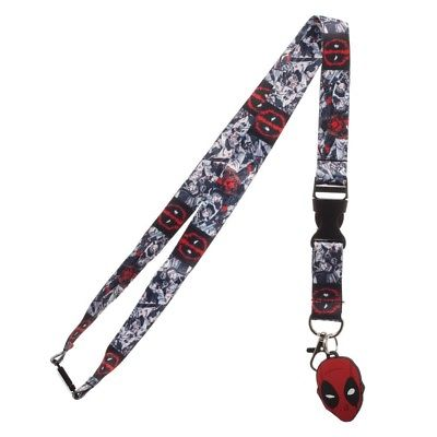 Bioworld - Marvel Comics - Deadpool Character Lanyard with Collectible Sticker Bioworld 1