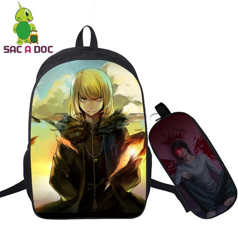 2 Pcs/set Men Backpack Cool Anime Death Note Boys Students Waterproof School Bags L/Light Laptop Backpack for Men Schoolbag Shop3126025 Store 10