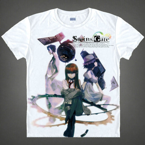 2015 Steins Gate Kurisu Shiina T Shirt Cosplay Costumes Men's Japanese Famous Anime T-shirt Unique Gift Camisetas Masculina Anime Shirts Store 1