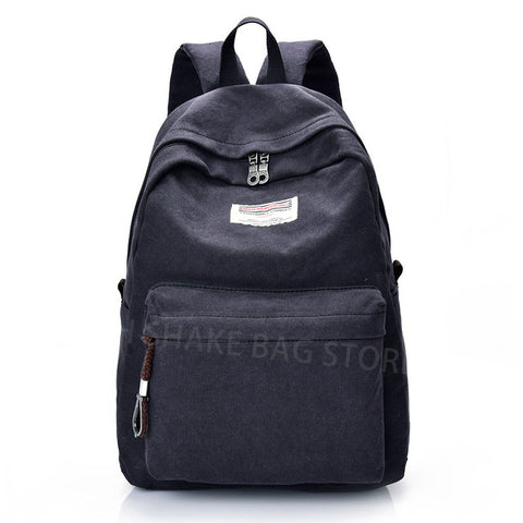 2016 Men Male Canvas Backpack College Student School Backpack Bags for Teenagers Vintage Mochila Casual Rucksack Travel Daypack Cloth shake bag Store 1