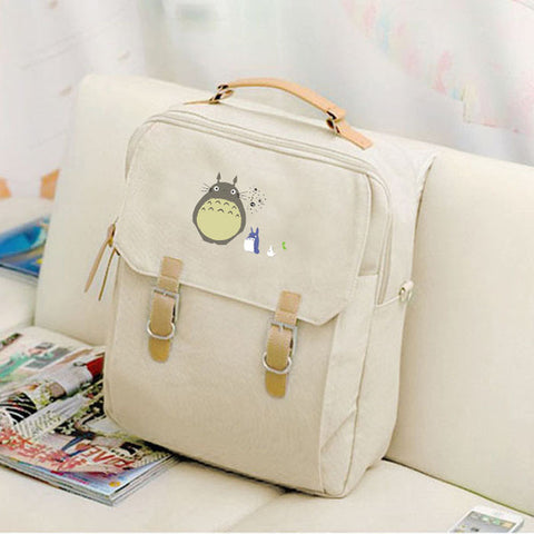 2017 Canvas Preppy Backpack Miyazaki Hayao Hot Anime Totoro Mochila Women Backpacks Students School Bags for Teenagers Girls The Pocket Store 1