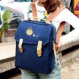 2017 Canvas Preppy Backpack Miyazaki Hayao Hot Anime Totoro Mochila Women Backpacks Students School Bags for Teenagers Girls The Pocket Store 2