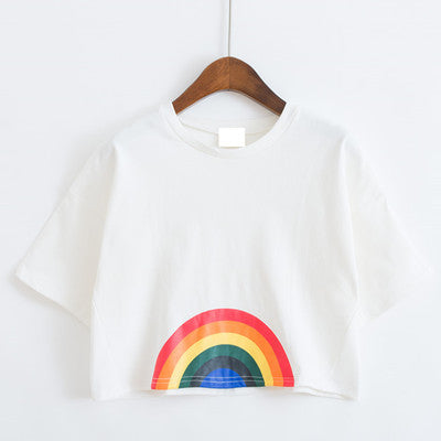 9c89781874f74 Tops and Tees T-Shirt 2017 Cartoon Kawaii harajuku women clothing love  printed Shirt Rainbow dog Cat Floral cute t-shirt women top Tee unicorn  AT 60 4 ...