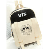 2017 HOT fashion Bangtan Boys knapsack New kpop star goods BTS PU schoolbag korea backpack student bags MSMO Outlet Store 1