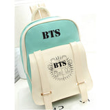2017 HOT fashion Bangtan Boys knapsack New kpop star goods BTS PU schoolbag korea backpack student bags MSMO Outlet Store 3