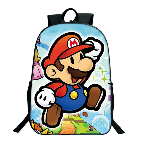 2017 Hot Sale Anime Super Mario Sonic Printing Backpacks For Teenage Girls Boys School Bags Toddlers School Backpacks Children DSL Store 10