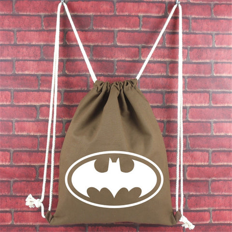 2017 New Fashion Anime Batman Bags Women Boys Girls School Bags Gift Bookbag For Kids Canvas Drawstring Bags Multicolor Backpack DSL Store 10