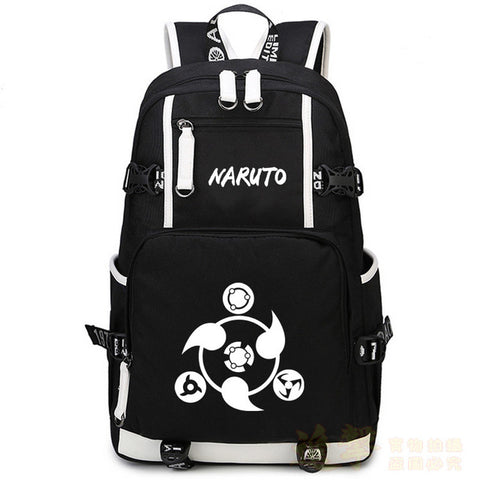 2017 New Naruto luminous Backpack School Bags Round Eyes Shoulders Bags Men And Women Student Travel Laptop Backpacks Anime Bags anime-bar Store 1