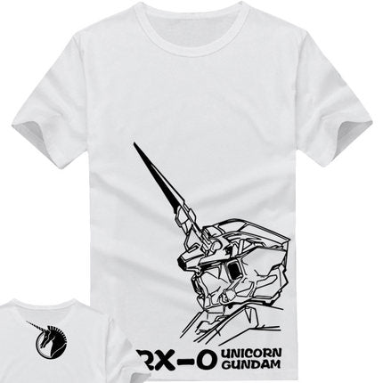 2017 Seconds Kill Sale Freeshipping Active Cotton Japan Anime Costume Summer Mobile Suit Gundam Cosplay Men Short Sleeve T Shirt The clouds anime 1