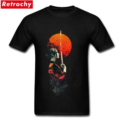 2017 Summer Fire Samurai T shirts Men's O Neck Short Sleeve Japanese Anime Tshirts Male Teen Clothes Retrochy Store 1