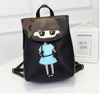 5ab58a034815 ... 2017 fashion cute school bags for girls waterproof PU leather backpack  women kids bag children primary ...