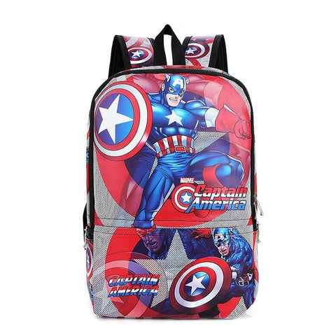 2b163c14b2 ... 2018 Anime Captain America Backpacks The Avengers Backpack Girls Boys  School Bags Shield Captain America Kids