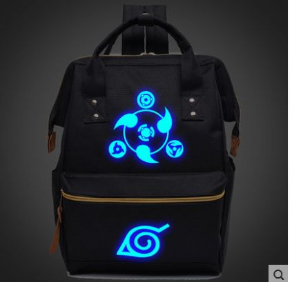2018 Anime Naruto Luminous Backpack School Travel Bag for Teenagers Japanese Anime Canvas Backpack Mochila Escolar 020804 Shop3630034 Store 1