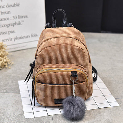 4888d2a232 2018 Autumn Fashion Backpack Women Mini Backpacks For Teenage Girls Winter  Solid Color School Bags Student