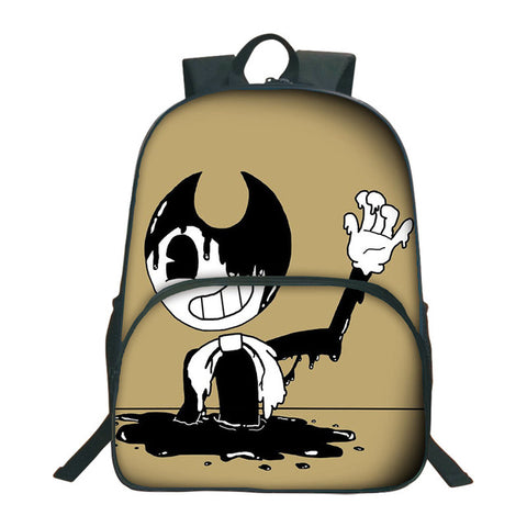 0c9ceb914a1d 2018 Bendy And The Ink Machine Backpack For Children School Bags Cartoon  Game Printing Book Backpack