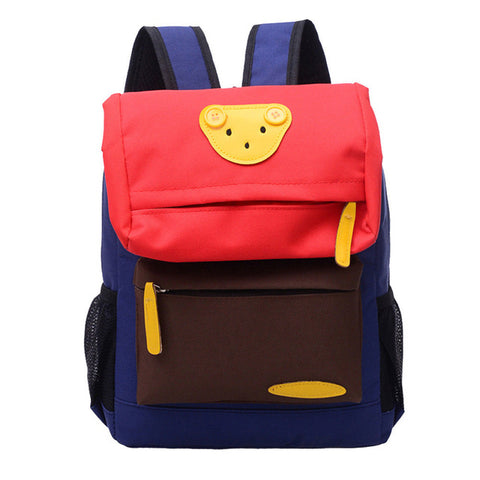 3c7fded93 ... 2018 Fashion Boys Backpacks Girl Students Lovely Bear Canvas Backpack  School Bags Casual Bookbags Kindergarten Kids ...