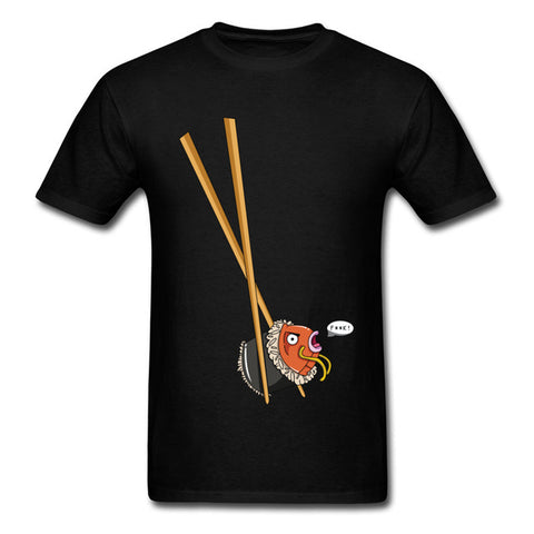 2018 Fashion Mens Summer Short Sleeve Shirts Japan Magikarp Sushi Fish Anime T-Shirts Plus Size Tshirt 10 Colors New Style  1