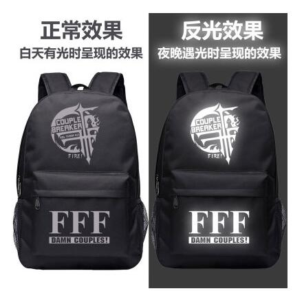 2018 High Q Japanese style Anime FFF GROUP LUMINOUS Backpack unisex Students BACKPACK Shop1168061 Store 1