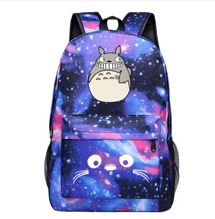 2018 High Q Japanese style Anime TOTORO STARRY NIGHT Backpack unisex Students BACKPACK Shop1168061 Store 1