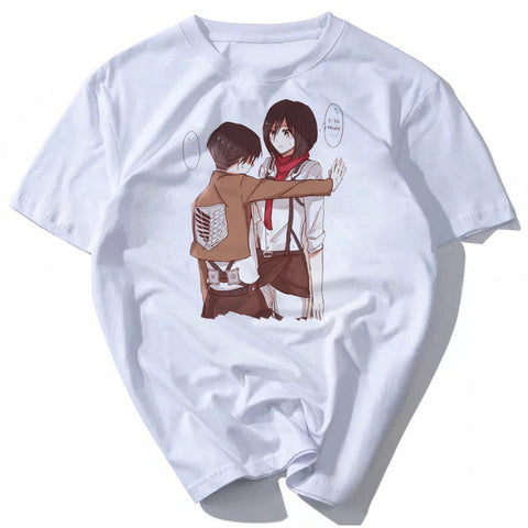 2018 Japanese Anime Attack on Titan T Shirt Cosplay Costume Shingeki no Kyojin Cartoon T-Shirt Tee Golden Anime tees s-xxxl austin Store 1