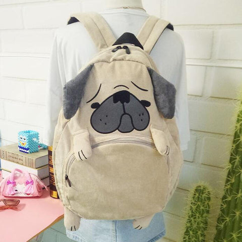 2018 Japanese cute cartoon animals backpack school bags for girls larger capacity corduroy backpack high school students bag melisa white's store 1