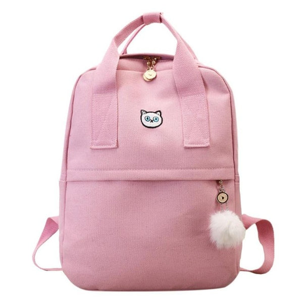 879fa0fab206 School Backpack trendy 2018 New Canvas Preppy Style Women Girls Backpa –  2018 AT 142 30 (Animetee.com Friends)