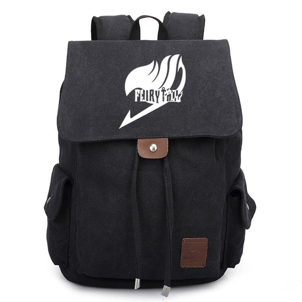 295da2de01f3 Japanese Anime Bag 2018 New Fairy Tail Canvas Backpack Cosplay Natsu School  Bags Bookbag Rucksack Travel Bags AT_59_4