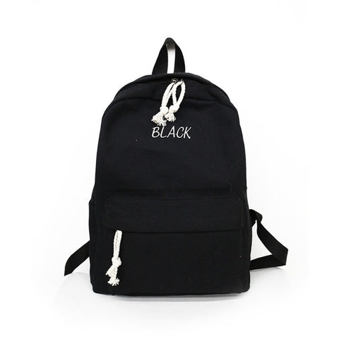 Campus Girls Harajuku School Schoolbag 2018 New Korean Ulzzang For Bolsas Student Canvas Backpack Female High 1SAUwx