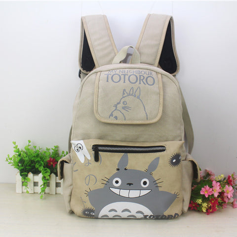 2018 New Totoro Backpacks Japanese Anime My Neighbor Totoro Bag Laptop Rucksack School Bags Mochila for Teenagers 18CIWEI Store 1