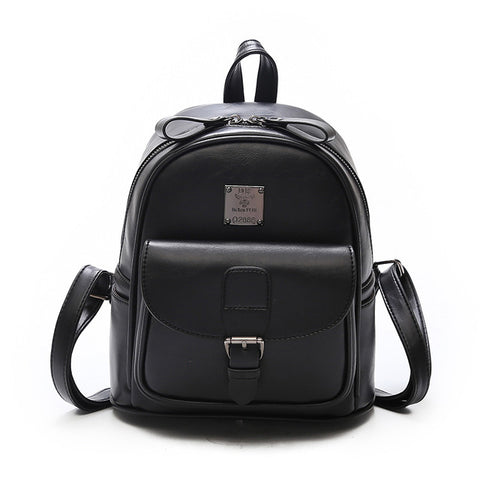 8bc6fff598 2018 New Women Backpacks Fashion PU Leather Shoulder Bag Small Backpack  School Bags for Teenager Girls