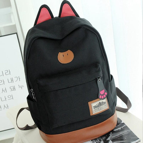 2018 Preppy Style Anime Japan Cute Cartoon Cat Canvas Travel Shoulder Bag Schoolbag Backpack Rucksacks for Teenagers Boys Girls STORYPACK Store 1