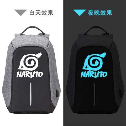 2018 Souvenir Edition NARUTO Printing Backpack Canvas School Bags Anime USB Charging Laptop Backpack Unisex Trave Bags Rugzak The Pocket Store 1