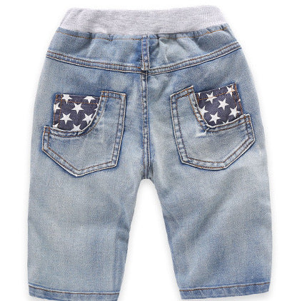 600960afe ... Hot Shorts 2018 Summer Children'S Clothes Boys Causal Blue Color Baby  Boy Jean For Boys Big ...