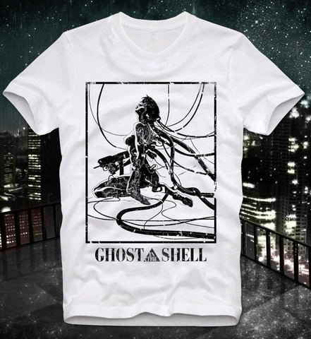 2018 Summer T Shirt New High Quality Ghost In The Shell Manga Anime Japan Japanese Retro Vintage Akira Custom Printed T Shirts Tshirt Man Store 1