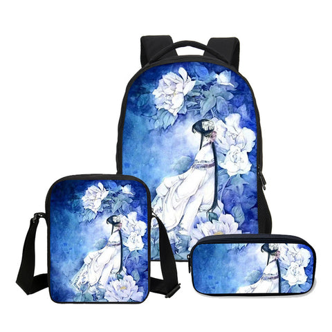 2018 VEEVANV School Bag Set 3D Cartoon Printed Backpack Children Combination Bookbag Fashion Anime School Backpack Daily Mochila VEEVAN PESONALITY WOMEN HANDBAG 10