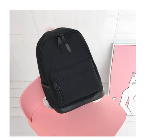 2018 Women Backpack for School Teenagers Girls Vintage Stylish School Bag  Ladies Canvas Fabric Backpack Female 39999e361a