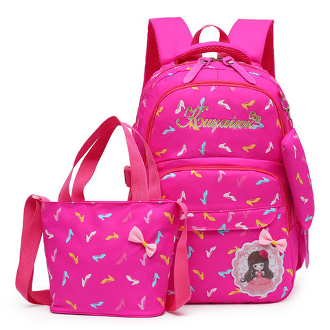 ... 2018 children School Bags 3 Pcs Set For Teenagers Girls school backpack  set women shoulder ... 9ff1a17cc0fd9