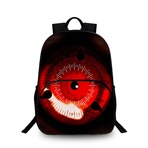 3D Anime Naruto School Laptop Backpack Write Round Eyes Cartoon School Bag For Kids Uzumaki Naruto Uchiha Sasuke Hatake Kakashi YiZu Fashion Store 1