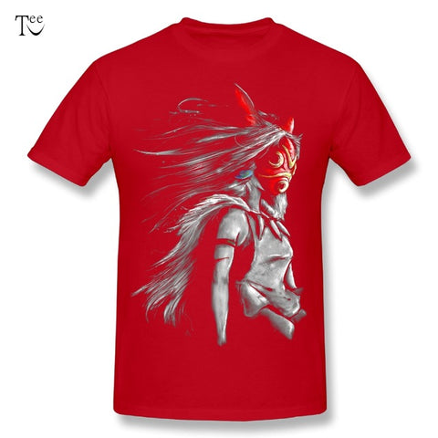 3D Print Princess Mononoke T Shirt Fashion Summer Japanese Anime Miyazaki Hayao Stylish T Shirt O-neck Custom Big Size T-shirt TeeV Store 1