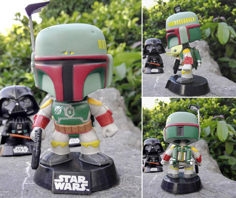 10cm New Funko Pop! Movies Star Wars Boba Fett Vinly Figure #08 Funko 1