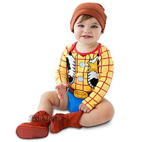 Toy Story Cowboy Woody Costume Bodysuit   Hat for Baby Disney Store 2 Years  NEW disney 62724654db2