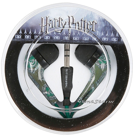 Harry Potter Slytherin Snake House Crest Print Earbuds Earphones Headphones NEW bioworld/Warner Bros. 1
