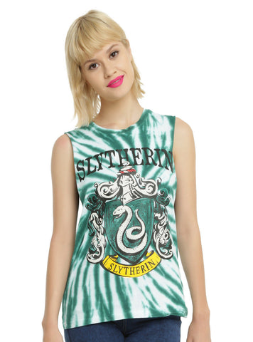 WB Harry Potter SLYTHERIN House Crest Tie Dye Muscle Tank Top Shirt S-XL NEW Warner Bros. HOT TOPIC