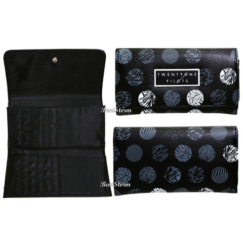 Licensed cool 21 Twenty One Pilots Band LOGO Song Circle Grey Trifold Flap  Wallet Billfold NEW