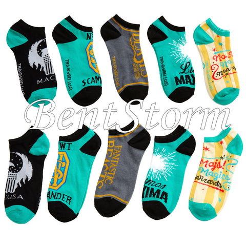 Harry Potter Fantastic Beasts And Where To Find Them No-Show Socks 5 Pair NEW Fallout 4 1
