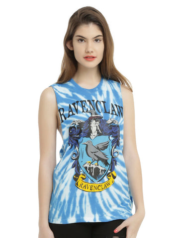 WB Harry Potter RAVENCLAW Bird House Crest Tie Dye Muscle Tank Top Shirt S-L NEW Warner Bros. HOT TOPIC