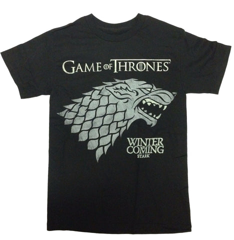 HBO Series Men's Game of Thrones Winter Is Coming Stark T Shirt New Black Tee HBO Game of Thrones