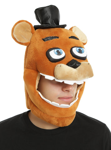 Five Nights At Freddy's Freddy Faz Bear Plush Costume Mask Hot Topic Exclusive Five Nights at Freddy's Pizza 1