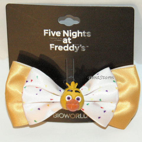 Five Nights At Freddy's Chica Costume Cosplay Hair Bow w/ 3D Chicken Charm NEW Five Nights at Freddy's/bioworld 1